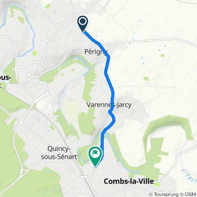 Itinéraire confortable en Combs-la-Ville
