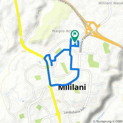 95-158 Paao Pl, Mililani to 95-101–95-155 Paao Pl, Mililani