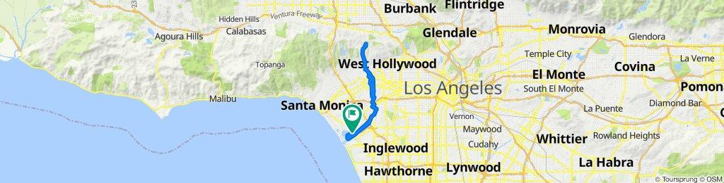 Easy ride in Los Angeles