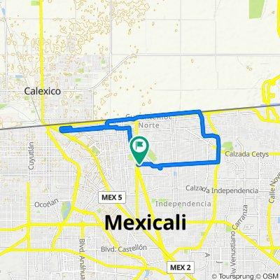 Ruta tranquila en Mexicali