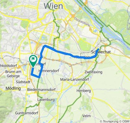 Langsame Fahrt in Vösendorf