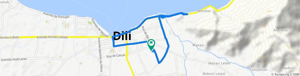 Rua de Bé-Mori, Dili to Rua de Bé-Mori, Dili