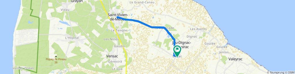De Chemin du Centre 40, Jau-Dignac-et-Loirac à Chemin du Centre 40, Jau-Dignac-et-Loirac