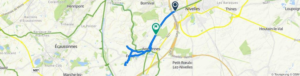 Itinéraire modéré en Nivelles
