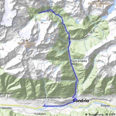 Sondrio- Val Malenco a zpět CLONED FROM ROUTE 500873