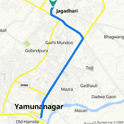 Steady ride in Yamunanagar