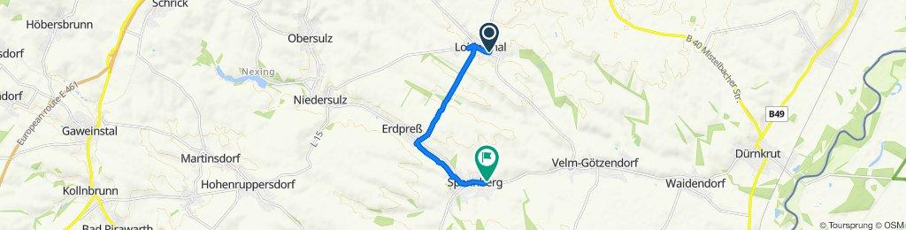 Einfache Fahrt in Spannberg