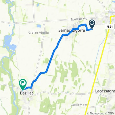 Itinéraire reposant en Bazillac