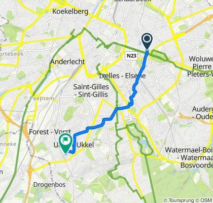 Rue Archimède 29, Brussels to Avenue Joseph Jongen 14, Ukkel