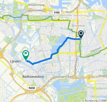 Orteliusstraat 195, Amsterdam to Ortler 85, Amsterdam