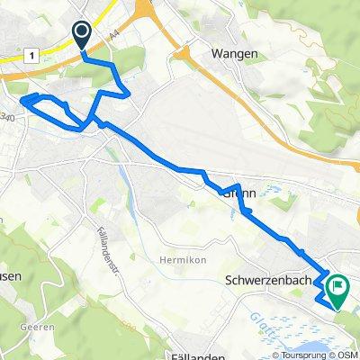 Einfache Fahrt in Schwerzenbach