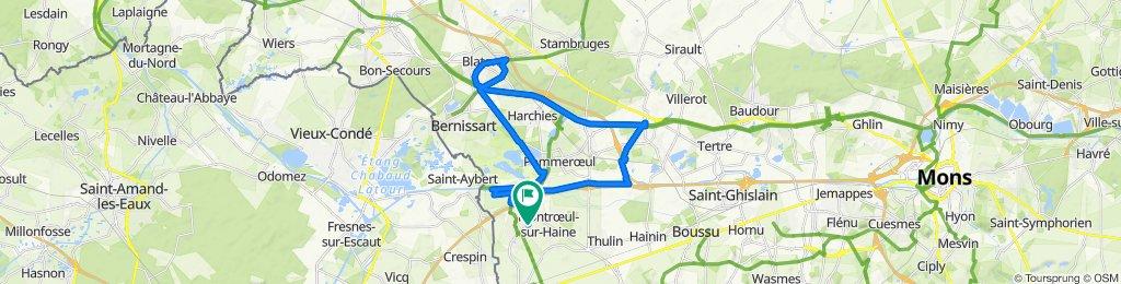 Itinéraire facile en Hensies