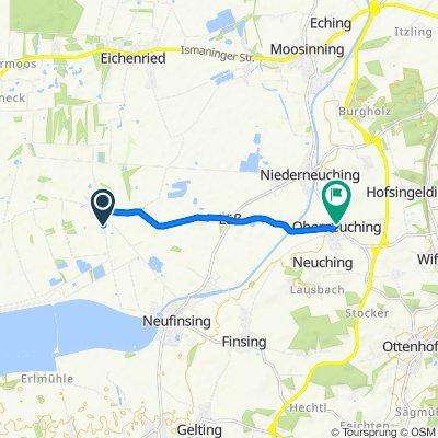 Sportliche Route in Neuching