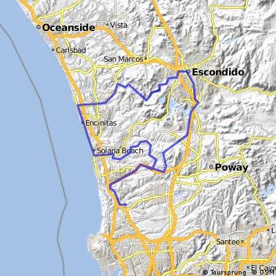 Saturday ride north of Sorrento Valley in San Diego
