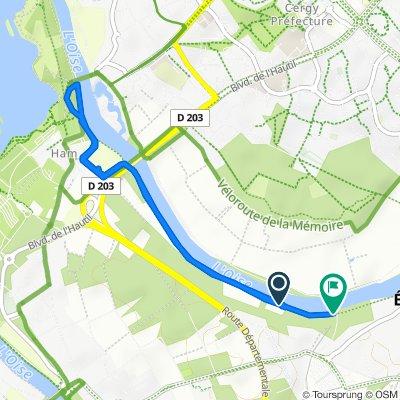 Itinéraire modéré en Neuville-sur-Oise