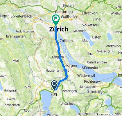Zug, Technologiecluster nach Fabrikstrasse 26, Zürich