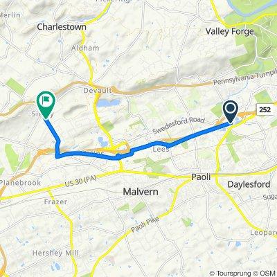 1000 Westlakes Dr, Berwyn to 2–8 Lee Blvd, Malvern