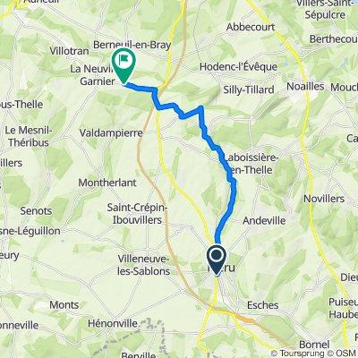 Itinéraire modéré en La Neuville-Garnier