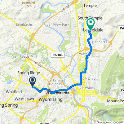 1 Bristol Ct, Wyomissing to 827–899 Elizabeth Ave, Laureldale