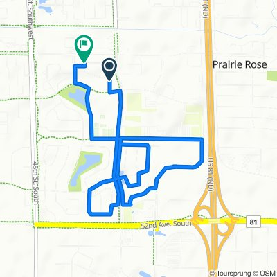 Relaxed route in Fargo