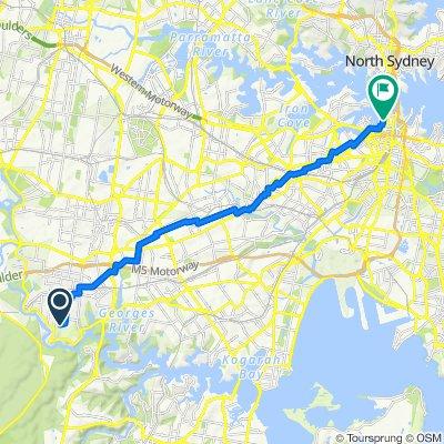 Picnic Point to Sydney CBD