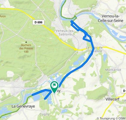 Itinéraire facile en Episy