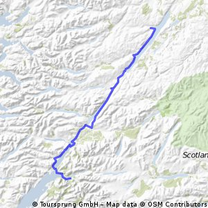 OXLEJOG Day 12 - Glencoe  to Loch Ness  CLONED FROM ROUTE 408362