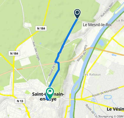 Route from Route des Forestière, Saint-Germain-en-Laye