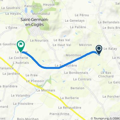 Itinéraire confortable en Saint-Germain-en-Coglès