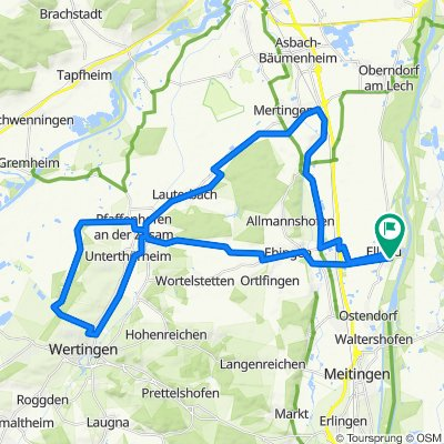 Ellgau - Wertingen- Mertingen-Ellgau