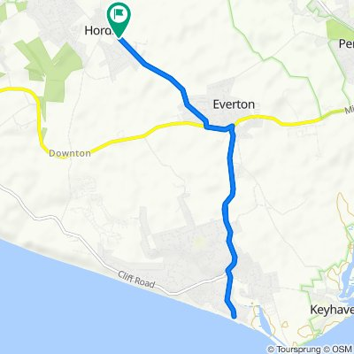 Hordle to Milford on Sea (Beach)
