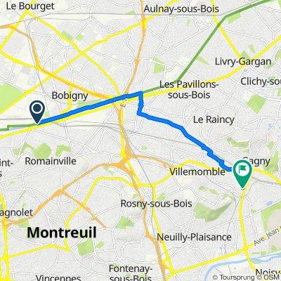 Itinéraire modéré en Gagny