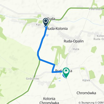 Spokojna trasa do Ruda-Huta