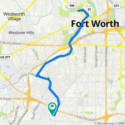 High-speed route in Fort Worth