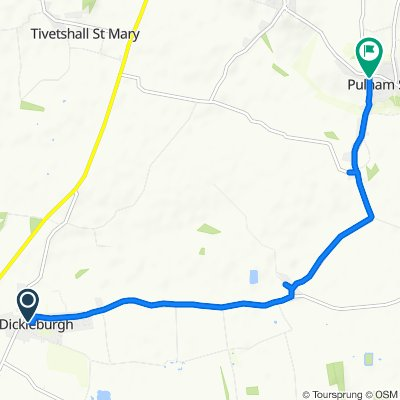 Route from Cornfields 9, Dickleburgh