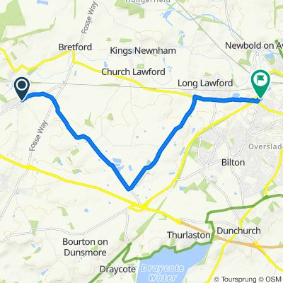 Warwick Road 2, Wolston to Lawford Bridge Close 25