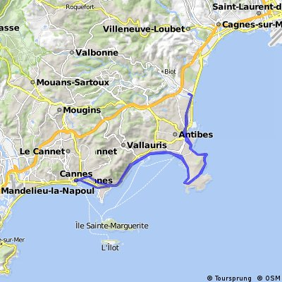 Antibes Cannes Bikemap Your bike routes