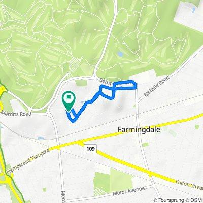 25 Hill Rd, Farmingdale to 22 Hill Rd, Farmingdale