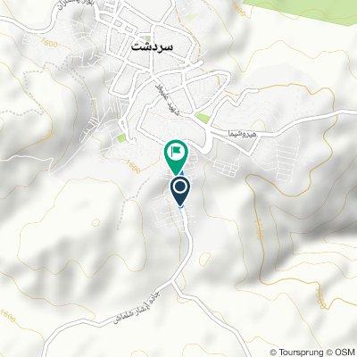 Route to آلان ۶, Sardasht