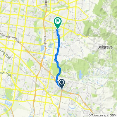 Relaxed route in Wantirna South