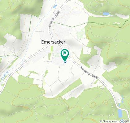 Einfache Fahrt in Emersacker