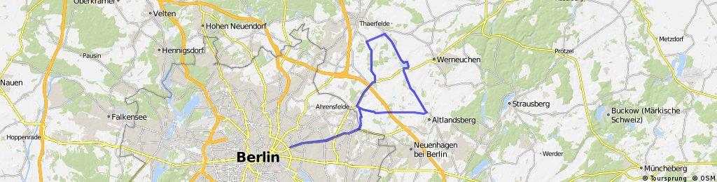 Ausfahrt Berlin-Löhme 60km