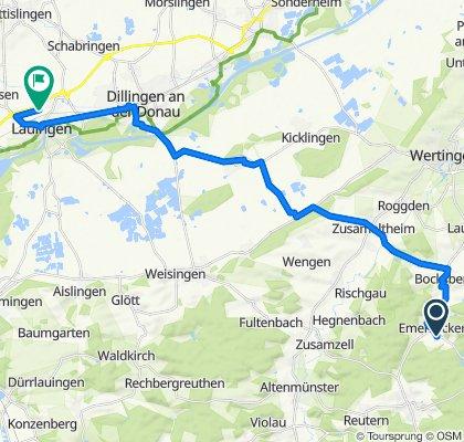 Entspannende Route in Lauingen (Donau)