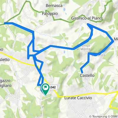 Giro a velocità costante in Olgiate Comasco