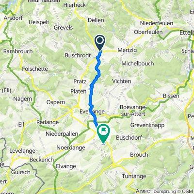 Rue de Dellen 6, Grosbous nach Schwebach, Am Duerf, Saeul