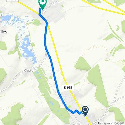 Itinéraire facile en Moreuil