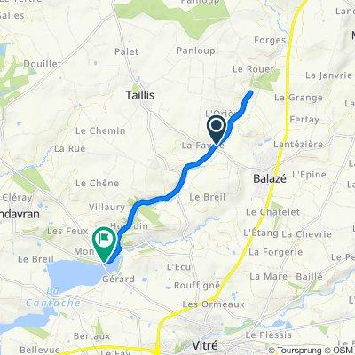 Itinéraire confortable en Montreuil-sous-Pérouse