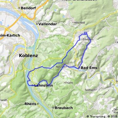 Kadenbach - Ems - Lahnstein - Denzer Heide - Kadenbach