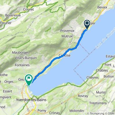 Schnelle Tour in St-Aubin-Sauges