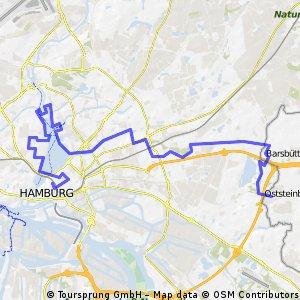 Hamburg Stadt route 1: Von der City zum Öjendorfer See